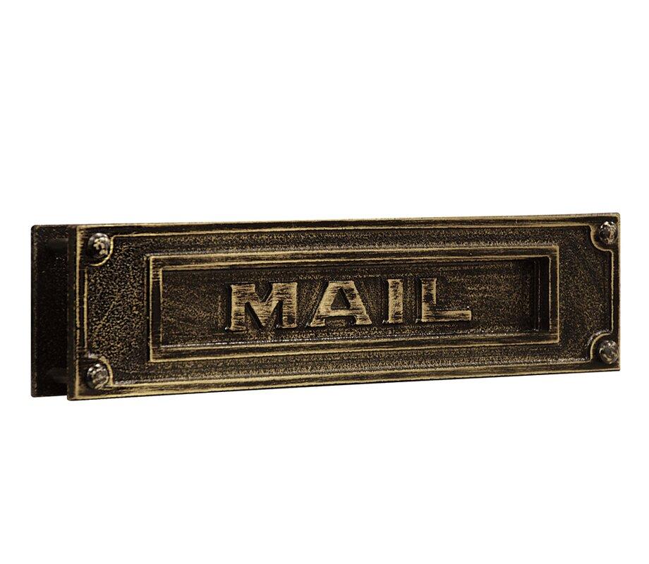 Salsbury Industries 13 5 In X 3 5 In Brass Mail Slot