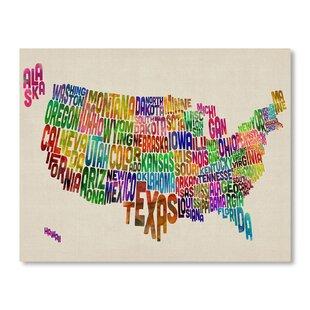 Us Map Mural.Us Map Wall Mural Wayfair