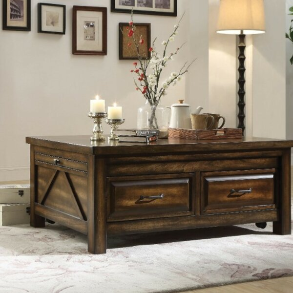 Almendarez Transitional Rectangular Wooden Extendable Coffee Table with Storage by Loon Peak Loon Peak