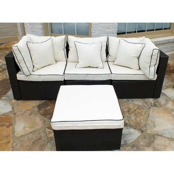 Burruss Patio Sectional With Cushions by Three Pos