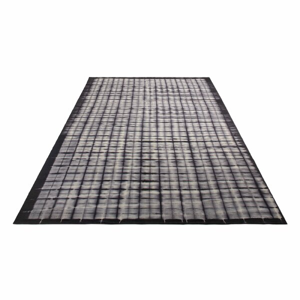 Murl Hand-Woven Wool Black Area Rug by Blu Dot
