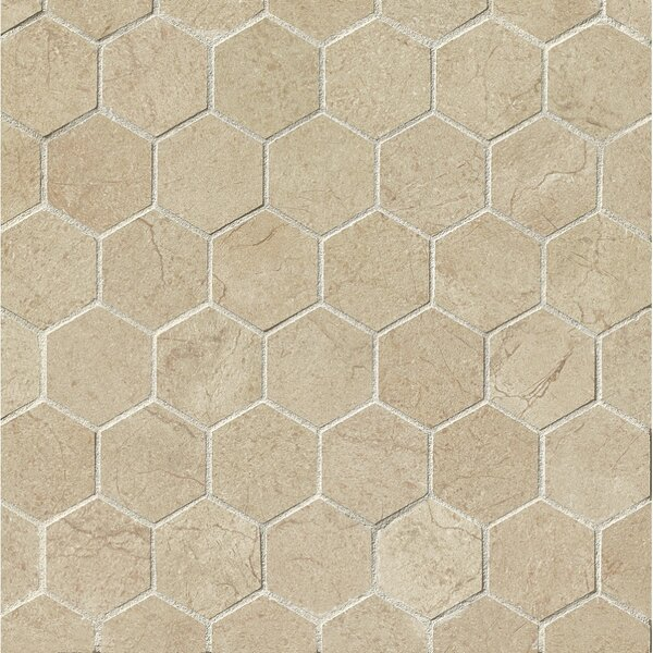 El Dorado 2 x 2 Porcelain Hexagon Mosaic Tile in Sand by Grayson Martin