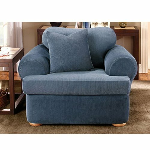 Stretch Stripe T-Cushion Armchair Slipcover by Sure Fit