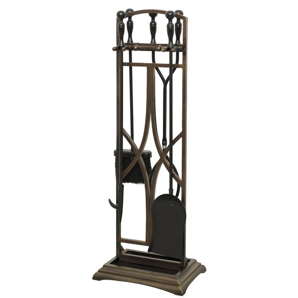 Ruth 5 Piece Iron Fireplace Tool Set by Ornamental Designs