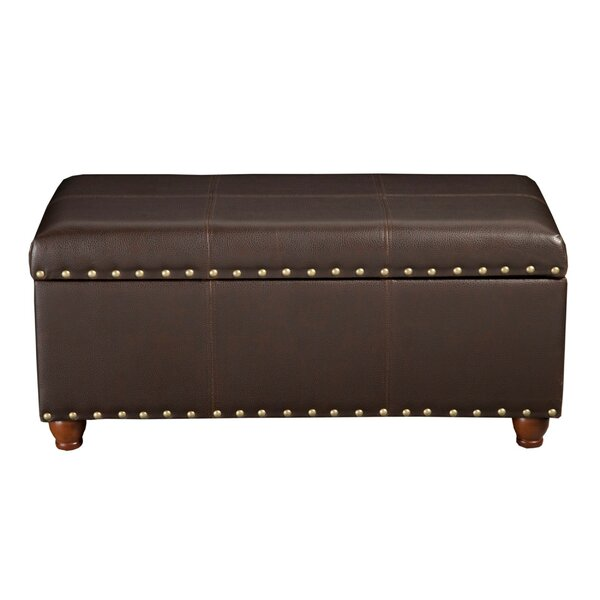 Palombo Faux Leather Storage Bench by Charlton Home