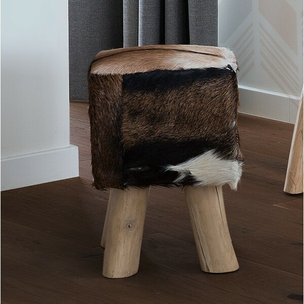 Altman Leather Accent Stool by Foundry Select