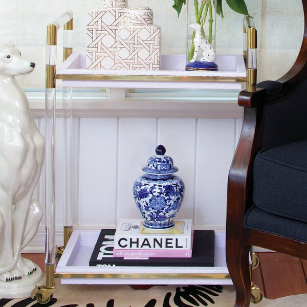 Lucite Bar Cart  by 8 Oak Lane