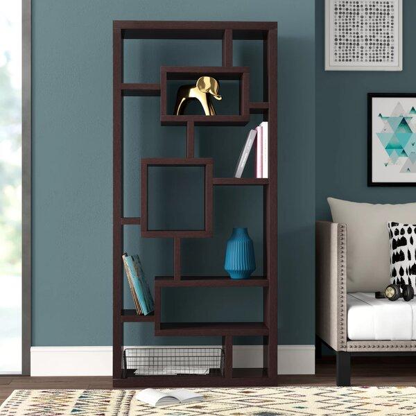 Cleisthenes Geometric Bookcase By Mercury Row