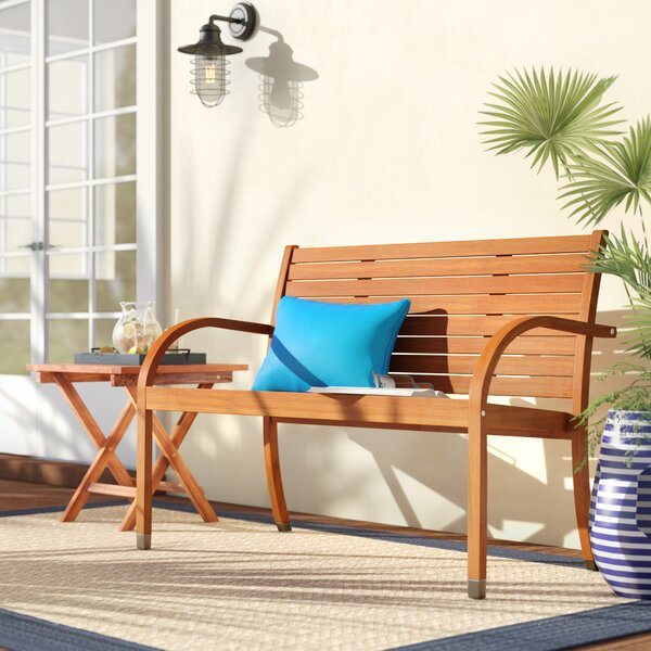 Frye Eucalyptus Garden Bench by Beachcrest Home