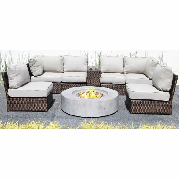 Vasil 8 Piece Sectional Seating Group with Cushions by Orren Ellis