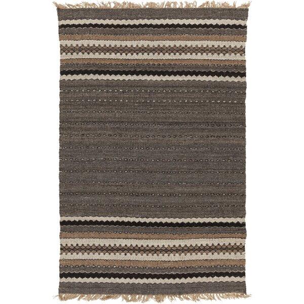 Auburn Gray/Brown Stripe Area Rug by Union Rustic