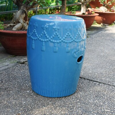 Alonsa Drum Ceramic Garden Stool Finish: Falling Aqua
