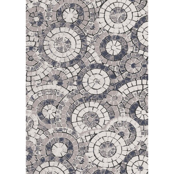 Dalewood Mosaic Circles Gray/Blue Area Rug by Latitude Run