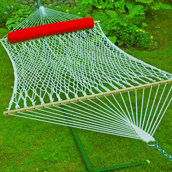 Cotton Rope Tree Hammock by Algoma Net Company