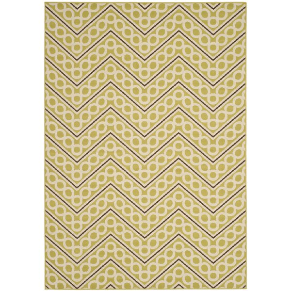 Hampton Beige Chevron Outdoor Area Rug by Safavieh