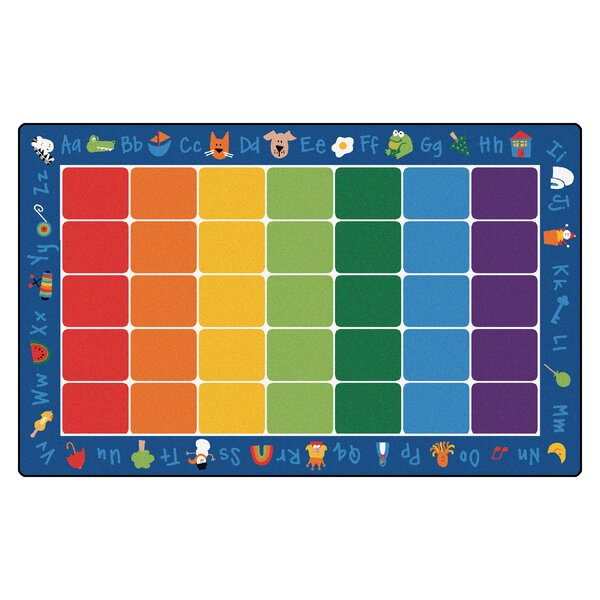 Camila Fun with Phonics Semi-Circle Kids Area Rug by Zoomie Kids