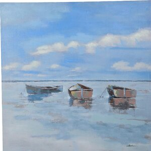 Quiet Painting on Canvas by Y Decor