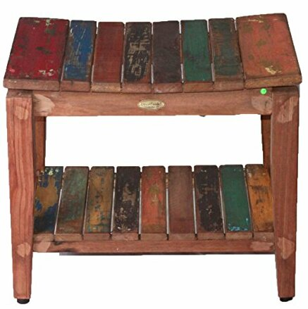 Recycled Salvaged Reclaimed Boat Wood Indoor Outdoor Bench by EcoDecors