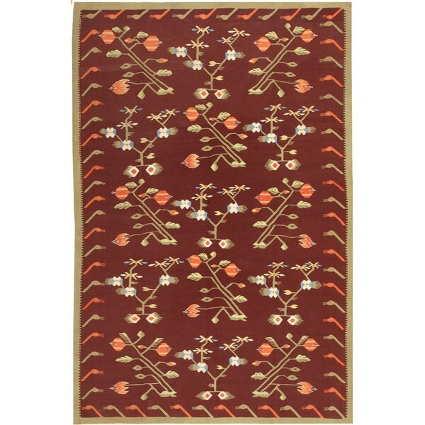 One-of-a-Kind Bessarabian Hand-Knotted 1900s Brown 5'8 x 8'6 Wool Area Rug
