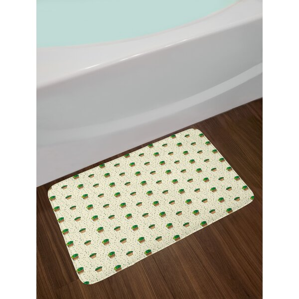 Dotted Pattern Cactus Bath Rug by East Urban Home