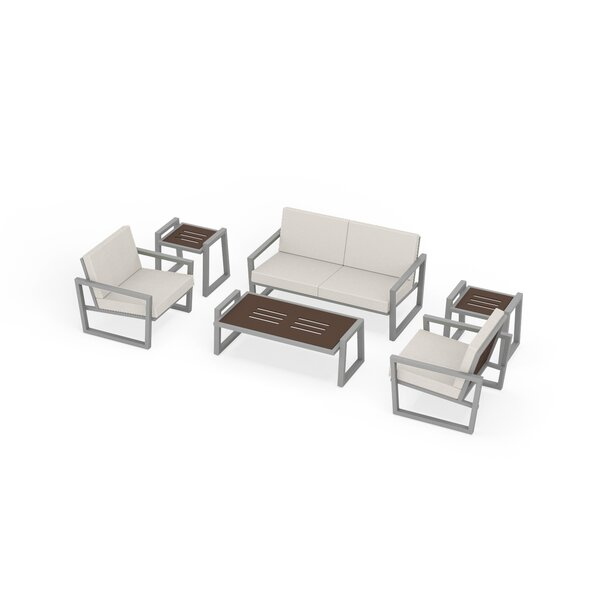 Waubun 6 Piece Sunbrella Sofa Seating Group with Cushions by Brayden Studio