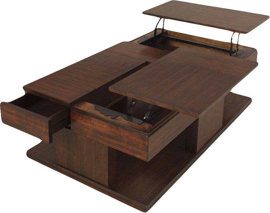 Attractive Janene Coffee Table With Double Lift Top