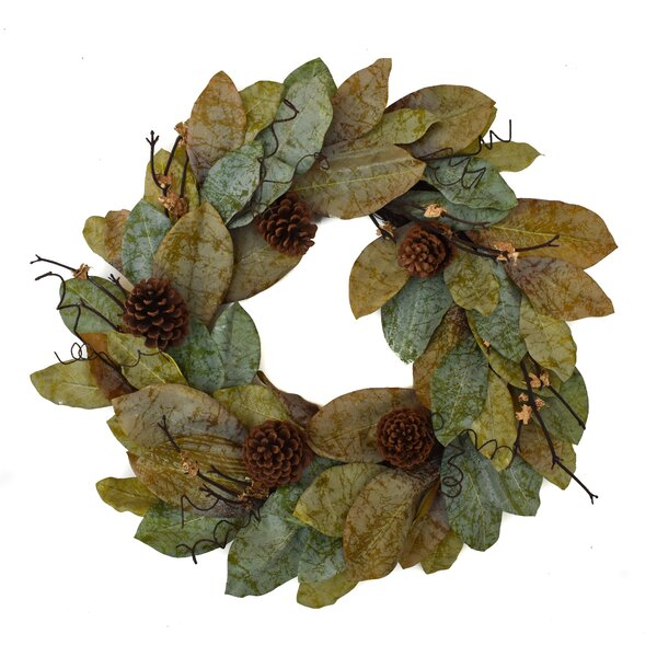 Forest Magnolia 24'' Wreath by Gracie Oaks