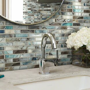 Neptune 1 X 4 Gl Mosaic Tile In Glossy Silver Brown