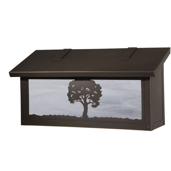 Oak Tree Horizontal Locking Wall Mounted Mailbox by America's Finest Lighting Company