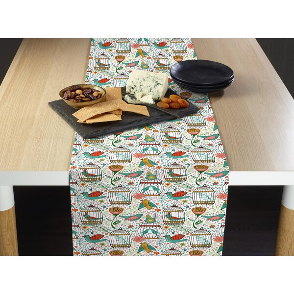 Jailyn Birds and Flowers Table Runner by August Grove