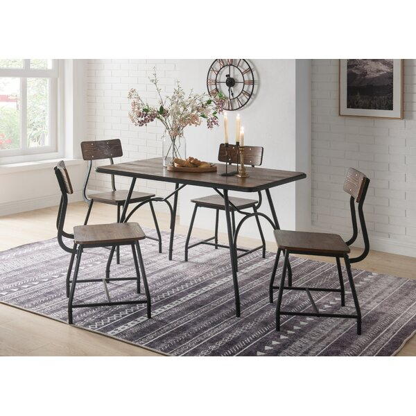 Luciano 5 Piece Dining Set by Williston Forge