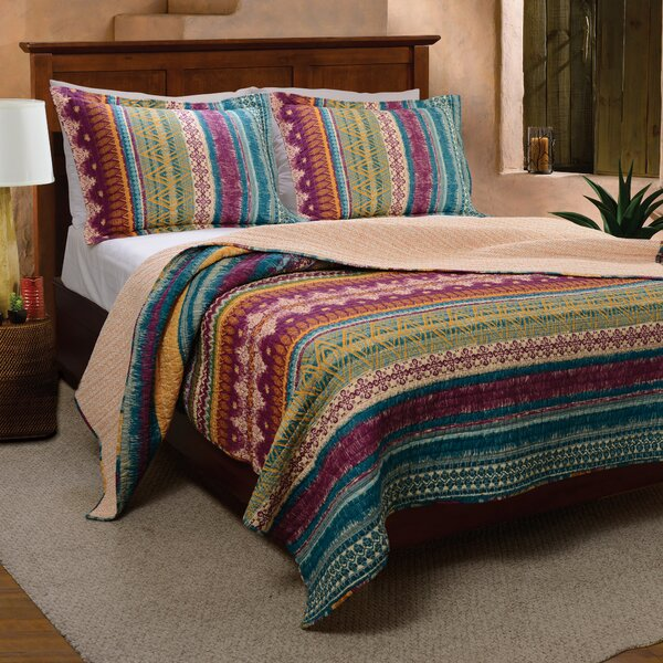 Valencia Reversible Quilt Set by World Menagerie