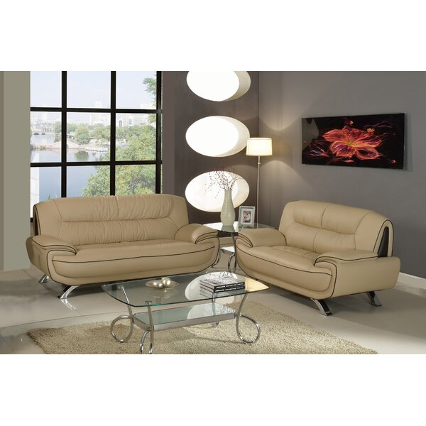 Marley 2 Piece Living Room Set (Set of 2) by Orren Ellis