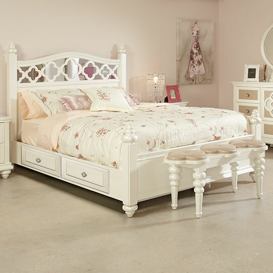 Paris Storage Platform Bed by Najarian Furniture