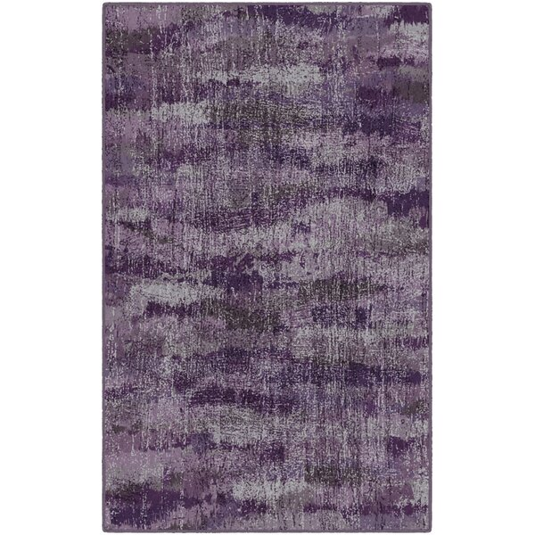 Fosse Plum, Vintage Abstract Purple Area Rug by Wrought Studio