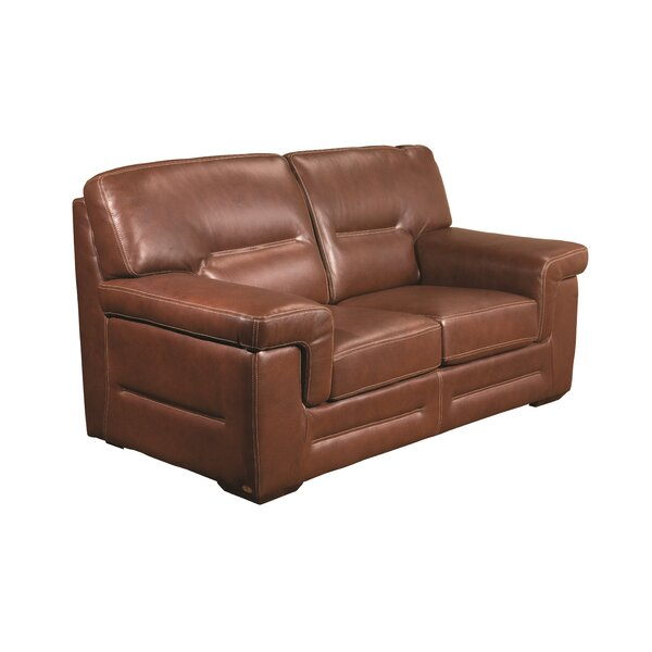 Astoria Leather Loveseat by Fornirama