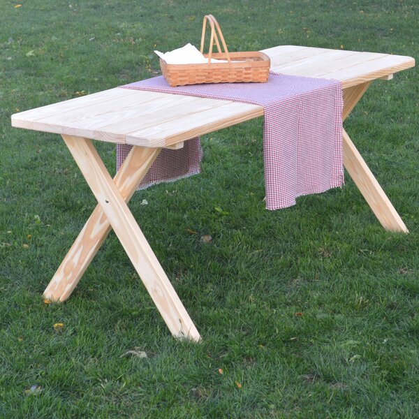 Troupsburg Pine Cross-leg Picnic Table by Loon Peak