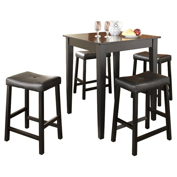 Haslingden 5 Piece Dining Set by Three Posts