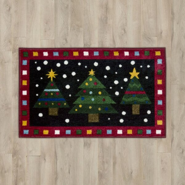 Christmas Trees Red Area Rug by The Holiday Aisle