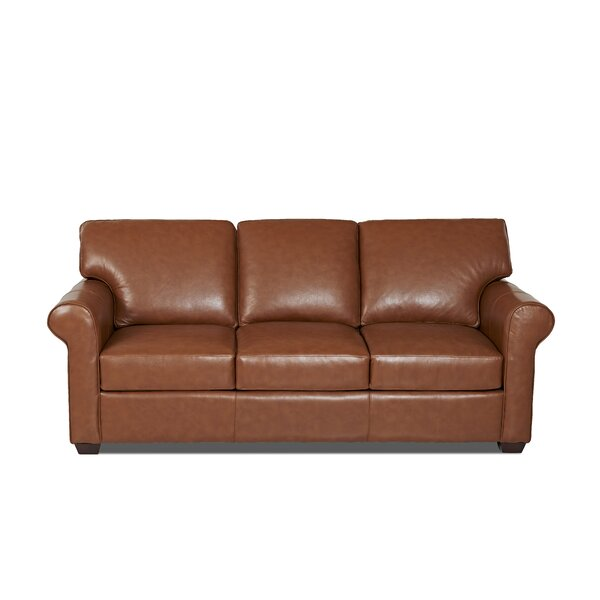 Rachel Leather Sofa by Wayfair Custom Upholstery™