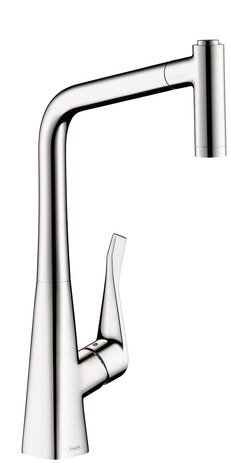 Metris Pull Out Single Handle Kitchen Faucet by Hansgrohe