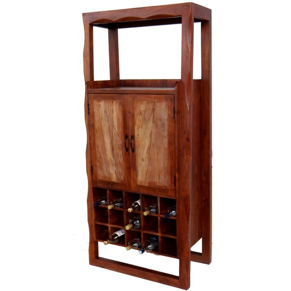 Mesa Wooden Bar With Wine Storage By Millwood Pines