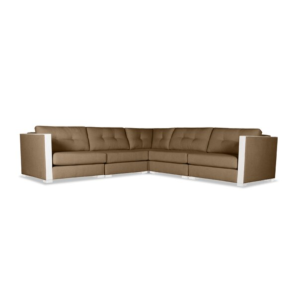 Steffi Symmetrical Buttoned L-Shape Modular Sectional By Orren Ellis