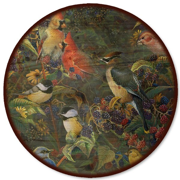 Berry Bush Songbirds Lazy Susan by WGI-GALLERY