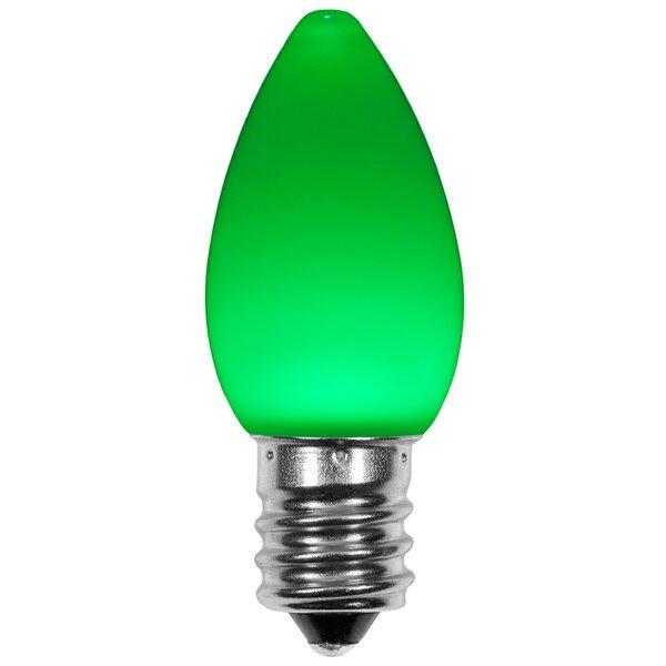 120W Green E12/Candelabra LED Light Bulb (Set of 25) by Wintergreen Lighting