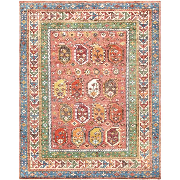 Nomad Hand-Knotted Wool Rose/Ivory Area Rug by Pasargad