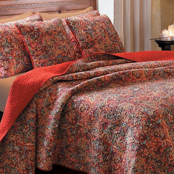 Bordertown Cotton Reversible Quilt Set by World Menagerie