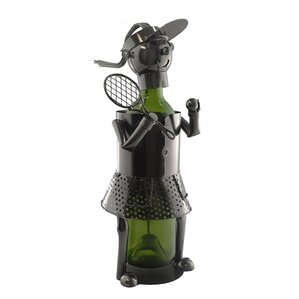 Woman Tennis Player 1 Bottle Tabletop Wine Rack by Three Star Im/Ex Inc.