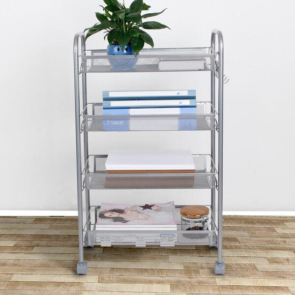 Metal Mesh Storage Units Rolling Cart by Lifewit