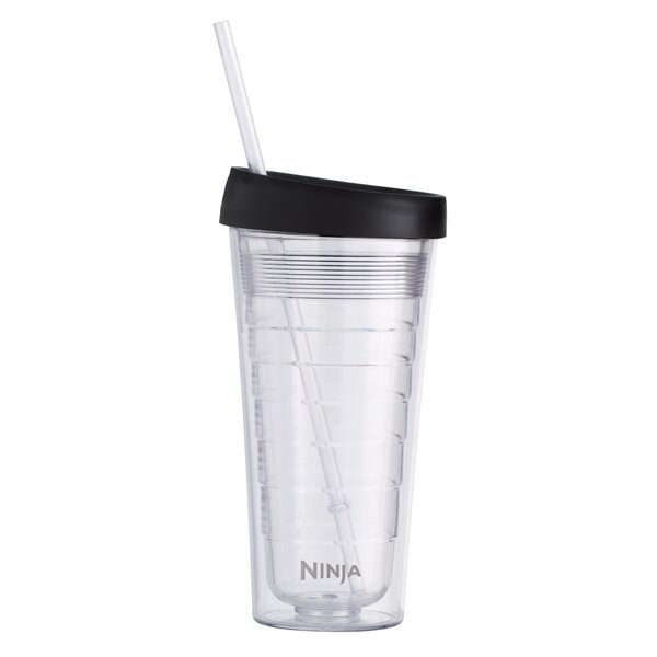 Double-Wall 18 oz. Plastic Travel Tumbler by Ninja